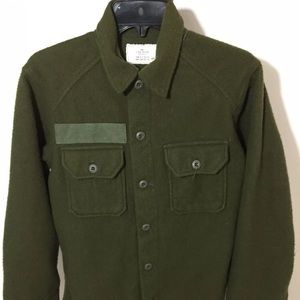 Vintage army wool long sleeve  shirt men's small